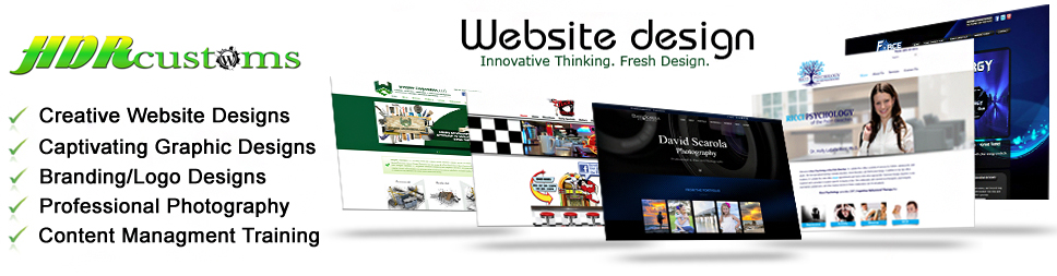 website design graphic photography branding logos hdrcustoms west palm beach florida